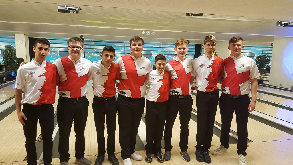 Team England with Team Malta