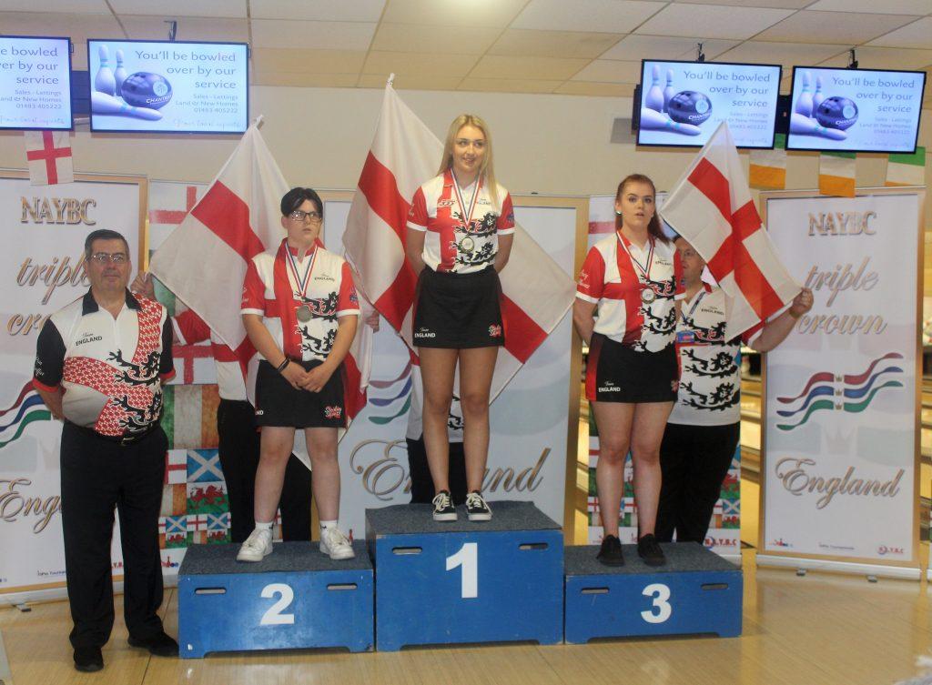 triple crown u18s girls medal winners